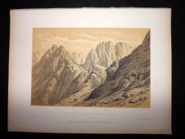 David Roberts Holy Land 1887 Antique Print. Ascent of the Lower Range of Sinai